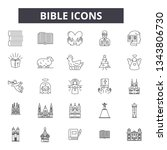 Bible Line Icons For Web And...