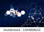 healthy heart. magnesium.... | Shutterstock .eps vector #1343808623