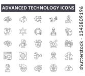 advanced technology line icons. ... | Shutterstock .eps vector #1343809196