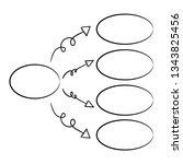 hand drawn diagram template | Shutterstock .eps vector #1343825456