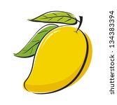 vector mango on white background | Shutterstock .eps vector #134383394