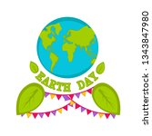 planet earth with text and... | Shutterstock .eps vector #1343847980