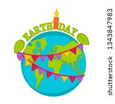 planet earth with text and a... | Shutterstock .eps vector #1343847983
