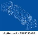abstract industry object...   Shutterstock .eps vector #1343851670