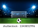 football arena field with... | Shutterstock .eps vector #1343852996