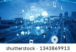 technology of transportation... | Shutterstock . vector #1343869913