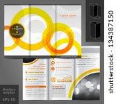 vector white brochure template... | Shutterstock .eps vector #134387150