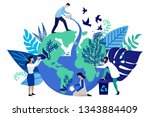 vector flat illustration in... | Shutterstock .eps vector #1343884409