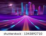vector empty road in modern... | Shutterstock .eps vector #1343892710