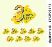 set of number days left... | Shutterstock .eps vector #1343905673
