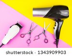 stylish professional barber... | Shutterstock . vector #1343909903