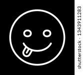 illustration tongue emoji icon  | Shutterstock . vector #1343911283
