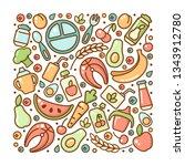 set of baby food elements....   Shutterstock .eps vector #1343912780