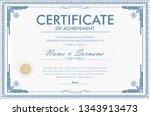 certificate of achievement... | Shutterstock .eps vector #1343913473