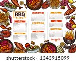 vector template of bbq  grill ... | Shutterstock .eps vector #1343915099