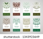 set of banners with ethnic... | Shutterstock .eps vector #1343923649