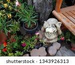 wood carving monkey figurine...   Shutterstock . vector #1343926313