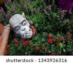 wood carving monkey figurine...   Shutterstock . vector #1343926316