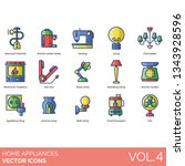 home appliance icons including...   Shutterstock .eps vector #1343928596