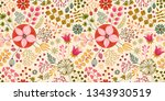 floral seamless pattern on... | Shutterstock .eps vector #1343930519