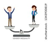 gender inequality.businessman... | Shutterstock .eps vector #1343930819
