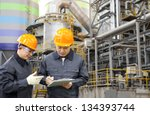 two engineer discussing a new... | Shutterstock . vector #134393744
