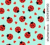 Cute Ladybug And Hearts...