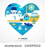 greece love | Shutterstock .eps vector #134395010