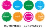 grunge post stamps collection ... | Shutterstock .eps vector #1343965919