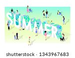 summer concept isometric...   Shutterstock .eps vector #1343967683