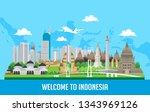 vector color flat design ... | Shutterstock .eps vector #1343969126