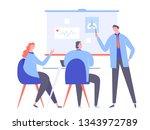 group of doctors in white coats ... | Shutterstock .eps vector #1343972789