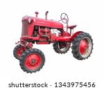 Old Vintage Red Tractor In Good ...