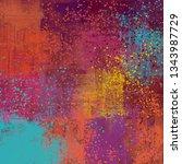 abstract background art. 2d... | Shutterstock . vector #1343987729