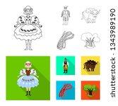 vector design of traditional... | Shutterstock .eps vector #1343989190