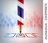 thailand vote 2019.thailand... | Shutterstock .eps vector #1343990873