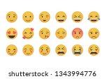 set of main emoticon vector...