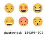 set of emoticon vector...   Shutterstock .eps vector #1343994806