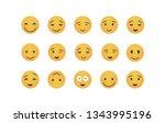 set of happy emoticon vector...