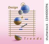 creative abstract 3d geometric...   Shutterstock .eps vector #1344000596