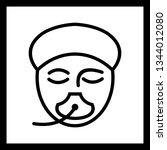 illustration  anesthesia icon  | Shutterstock . vector #1344012080
