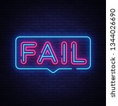 fail neon text vector. fail... | Shutterstock .eps vector #1344026690