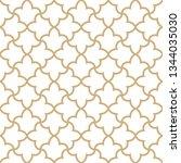 seamless golden oriental... | Shutterstock .eps vector #1344035030