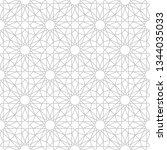seamless gray oriental pattern. ... | Shutterstock .eps vector #1344035033