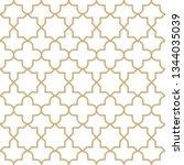 seamless golden oriental... | Shutterstock .eps vector #1344035039