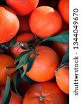 close up of oranges in the...