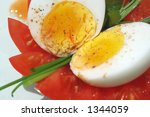 eggs and tomato | Shutterstock . vector #1344059