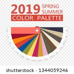 round paper spring and summer...   Shutterstock .eps vector #1344059246