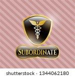 shiny emblem with caduceus...   Shutterstock .eps vector #1344062180