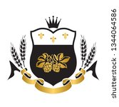 coat of arms for brewery... | Shutterstock .eps vector #1344064586